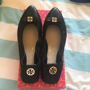 Never been worn black Tory Burch shoes!